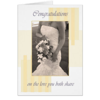 Félicitations crèmes de jour du mariage carte de vœux