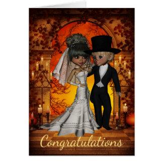 Félicitations de mariage pour le mariage de carte de vœux