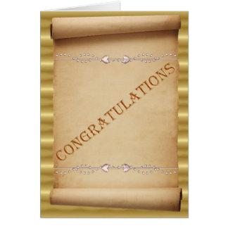 Félicitations de mariage. Rouleau de mariage Carte De Vœux