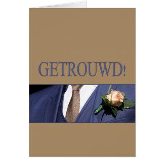 Félicitations néerlandaises de mariage carte de vœux