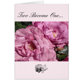 Félicitations roses de mariage carte de vœux