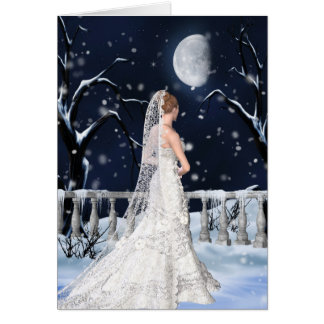 Félicitations sur le mariage d'hiver carte de vœux