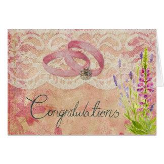 Félicitations sur votre mariage carte de vœux