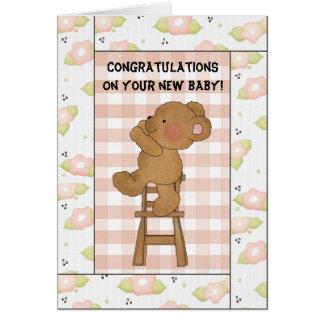 Félicitations sur votre nouveau bébé ! Carte