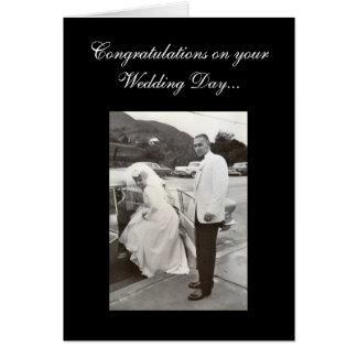 Félicitations votre jour du mariage… carte de vœux