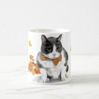 Felix: der Kitty auf einer themed Tasse Novembers