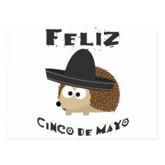 Feliz Cinco Igel Des Mayo Postkarte