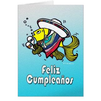 FELIZ CUMPLEAÑOS mexikanische Fische lustige Karte