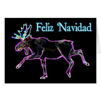 Feliz Navidad - elektrischer Elch Grußkarte