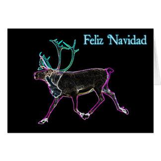 Feliz Navidad - elektrisches Karibu Grußkarte