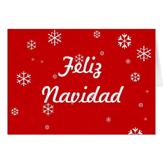 Feliz Navidad Schneeflocken Karte