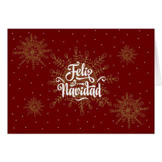 Feliz Navidad Spanisch-Weihnachten Karte