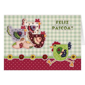 Feliz Páscoa. Kundengerechte Karte