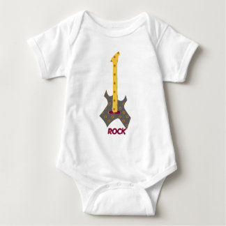 Felsen-Baby-Felsen-Kaliko-Gitarre Baby Strampler