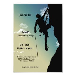 Felsen-KletternParty 12,7 X 17,8 Cm Einladungskarte