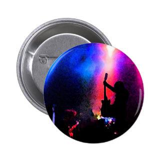 Felsen-Konzert mit Gitarrist-und Bühne-Beleuchtung Runder Button 5,1 Cm