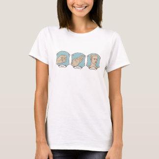 Felsen, Papier, lustiges Wort-Wortspiel Caesars T-Shirt