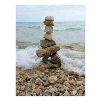 Felsen-Säulen-Monument - Mackinac Insel, Michigan Postkarte
