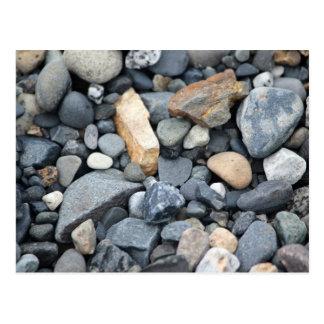 Felsen, Steine und Kies Postkarte