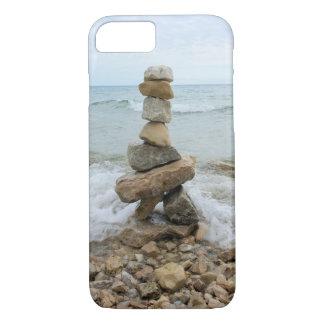 Felsen-Steinhaufen (Säule) - Mackinac Insel, iPhone 8/7 Hülle