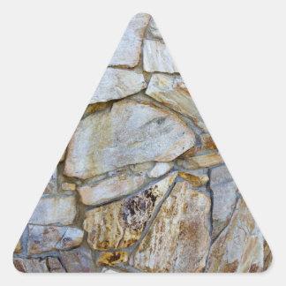 Felsen-Wand-Beschaffenheits-Foto auf Dreiecks-Aufkleber