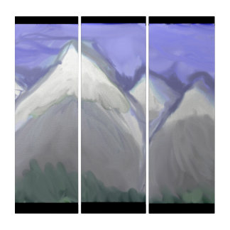 Felsige Berge Colorados (abstrakter Watercolor) Triptychon