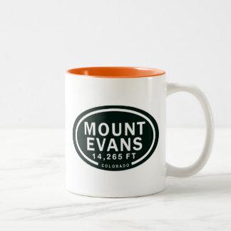 Felsiger Berg Berg-Evans 14.265 FT Colorado Zweifarbige Tasse