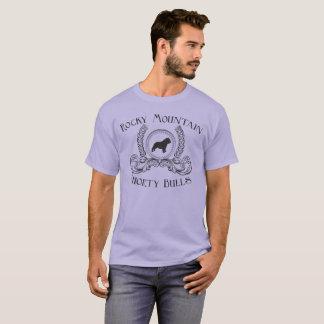 Felsiger BergShorty Stier-T - Shirt-Schwarzentwurf T-Shirt