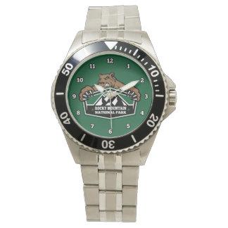 Felsiger Gebirgsbärn-Uhr Armbanduhr