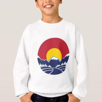 Felsiger Gebirgsemblem Colorados Sweatshirt