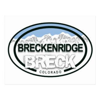 Felsiger Gebirgsumbau-Postkarte Breckenridges Postkarte