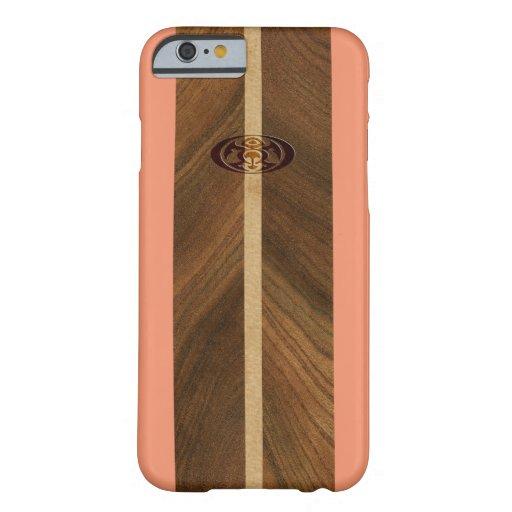 Felsiger Punkt-hawaiisches Imitat-Holz-Surfbrett Barely There iPhone 6 Hülle