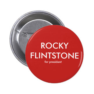 Felsiges Flintdstone von Belinda blinkte Knopf Runder Button 5,1 Cm