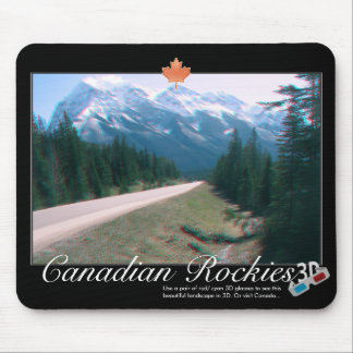 Felsiges rotes cyan-blaues Anaglyph-Foto Mousepads