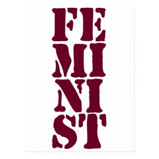Feministisch! Postkarte