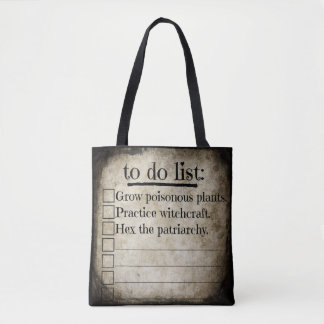 Feministische Hexe, zum der Liste zu tun Tasche