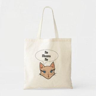 Feministische Katzen-Cartoon-Illustration Tragetasche