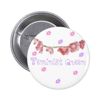 feministische Königin (◕‿◕✿) Runder Button 5,1 Cm