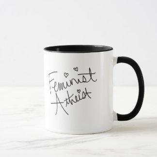 Feministischer Atheist Tasse