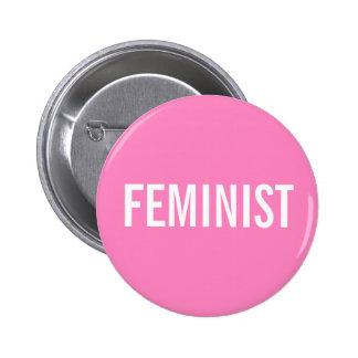 Feministischer rosa Knopf Runder Button 5,1 Cm