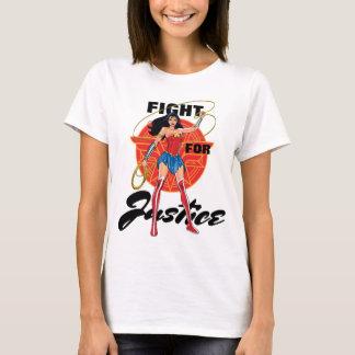 Femme de merveille avec le lasso - combat pour la t-shirt