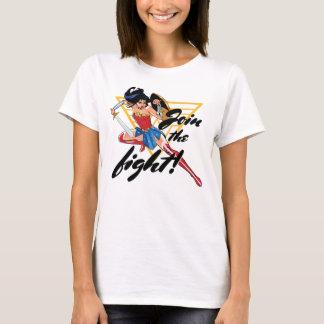 Femme de merveille avec l'épée - joignez le combat t-shirt