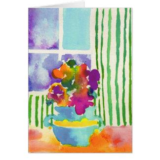 Fenster-Blumen durch Jessie Abrams, Alter 11 Mitteilungskarte