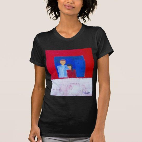 Fenster-EIn T - Shirt mit ursprünglicher Malerei