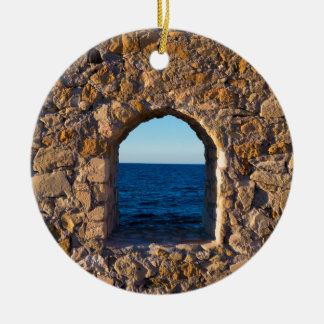 Fenster zum Ägäischen Meer Keramik Ornament