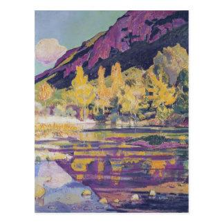 Ferdinand Hodler- am Fuß des kleinen Saleve Postkarte