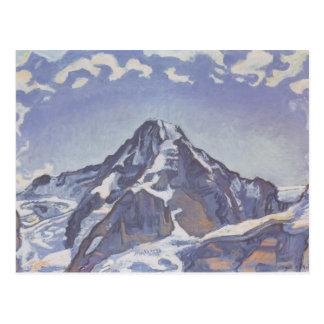 Ferdinand Hodler- der Mönch mit Wolken Postkarte