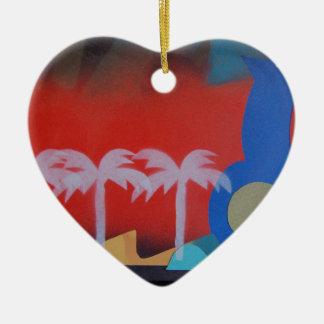 Ferien Keramik Herz-Ornament