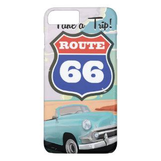 Ferien-Reiseplakat des Weges 66 Vintages iPhone 8 Plus/7 Plus Hülle