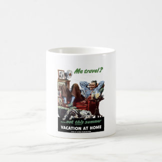 Ferien-zu Hause Plakat WW2 Kaffeetasse
